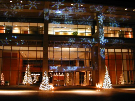 decor lighting at Exxon Mobil headquarters