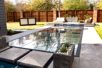 Clear Flush Mount Pool Cover